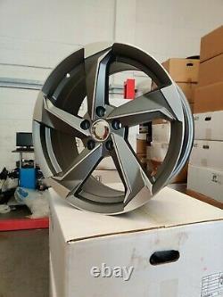 19 Wheels Alloy Audi A3 A4 A6 A8 Tt Golf Passat Seat Skoda 5x112 Rotor Style