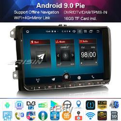 3-ui Android 9.0 Paho Radio Dab + For Passat Golf Mk5 / 6 Tiguan Sharan Seat 9