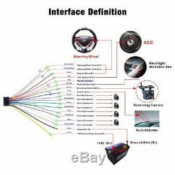 7 Autoradio 2din Navi Gps Mp5 DVD Bluetooth Usb For Vw Golf Seat Skoda Kamerasc