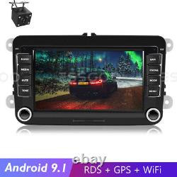 7 Autoradio Stereo Android 9.1 Bluetooth Rds Gps - Camera For Vw Golf 5 6 Passat