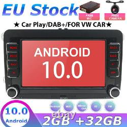 7 Car For Vw Golf Passat May 6 Touran Android 10 Navi Gps Stereo Dab + Wireless