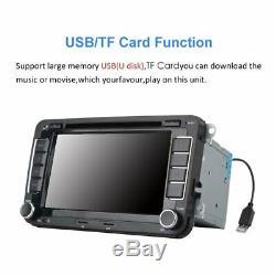 7 Radio Navi 2din DVD Gps Bluetooth Usb Mp5 Für Vw Golf Seat Skoda Kamera #