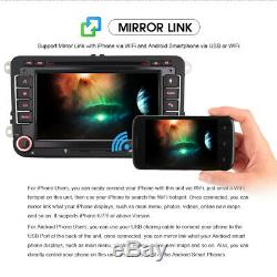 7android 8 Dab + Gps Sat Navi Car Stereo Usb Bluetooth 2 Din For Vw Touran T5 Golf