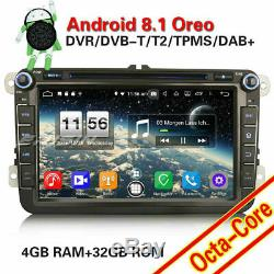 8-core Android 8.1 Gps Dab + Car Radio For Vw Passat Golf Polo Tiguan Seat Skoda