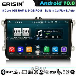 8-core Dsp Android 10.0 Radio For Skoda Seat Vw Passat Golf Touran Tiguan T5