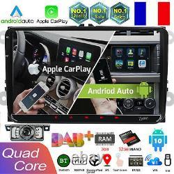 9 2gb 32gb Android10 Autoradio For Vw Passat Golf Seat Mk5 6 Touran Skoda Dab