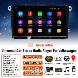9 Android 8.1 Gps Car Radio Wifi Dab + For Vw Skoda Seat Polo Golf Jetta Odb