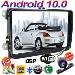 Android 10.0 Radio Dab + Gps Navi For Vw Passat Golf Polo Tiguan Eos 5 Seat
