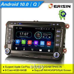 Android 10 10 2din Autoradio For Vw Seat Skoda Golf Toledo Altea Eos Dab-6948