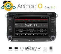 Android 8 Oreo Car Radio For Vw T5 Seat Skoda Golf Gps Mp3 DVD Usb Dab +