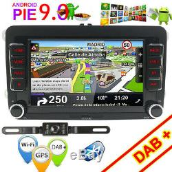 Android 9.0 Car Gps Nav For Vw Bora Jetta Polo Golf Seat Transporter T5 B7