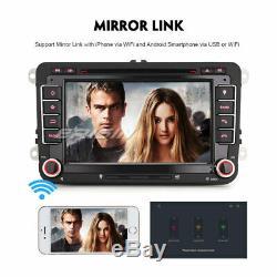 Android 9.0 Dab + Car Radio For Vw Skoda Golf Seat Sharan Touran Fabia Tnt Cam4848