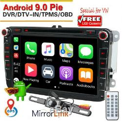 Android 9.0 For Car Vw Passat Peugeot Golf 4 Ibiza T4 T5 DVD Dab + Carplay