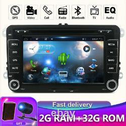 Autoradio For Vw Passat Golf Tiguan Android 10.0 Gps Navi Car DVD Wifi Dab Usb
