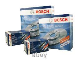 Bosch Set Brake Discs 4x And 2x Slide Plates Front Back Vw Golf