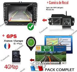 Car Gps Bluetooth Vw Golf 5 6 Tiguan Passat Polo Seat Skoda + Camera Back