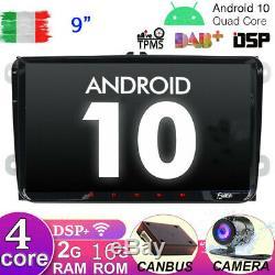 Car Radio For Vw Passat Golf Tiguan Android 10 Gps Navi For Dsp Dab Wifi Usb Bt