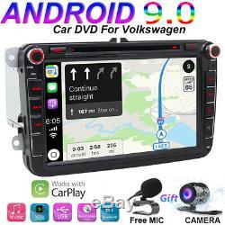 Car Radio For Vw Passat Golf Tiguan Android 9.0 Gps Wifi Car DVD Navi Carplay