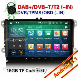 Dab + Android 8.1 Bluetooth Gps Car Audio For Vw Passat Golf 5 Polo Tiguan Seat