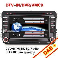 Dab + Autoradio For Touran Golf 5 6 Passat Tiguan Tiguan Jetta Seat Skoda CD Ops