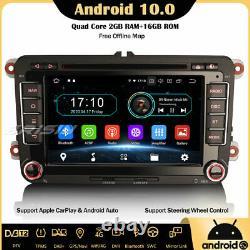 Dab-android 10 Autoradio Carplay Navi For Vw Passat Golf 5 Polo Tiguan Eos Skoda
