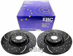 Ebc For Vw Golf 6 R32 Audi Turbogroove Perforated Brake Discs Ø345