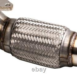 Exhaust Destainless De Cat Front Downpipe For Vw Golf 5 Golf 6 2.0 Gti Fsi