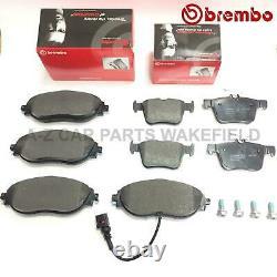 Front Brembo And Brake Pad Rear Audi S3 8v Vw Golf Mk7 R Seat Leon Cupra
