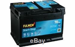 Fulmen Starting Battery 70ah / 760a For Volkswagen Golf Audi A3 Q3 Fk700