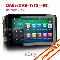 Octa Core Android 9.0 Radio Dab + Gps For Vw Golf Passat Touran Eos Polo CD + 4g