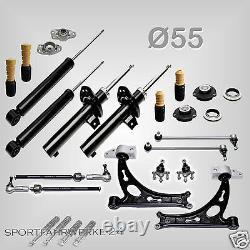 Premium Arm Set Oscillating Damper Bearing Puffer Vw Golf 5 / V 1k 55mm