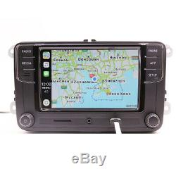 Radio Rcd330 + Carplay, Android Auto, Bt, At, Rvc Vw Golf Polo Touran Tiguan Eos