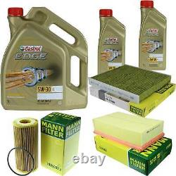 Revision Filter Castrol 7l Oil 5w30 For Vw Golf VII 5g1 Be1 2.0 By Gti