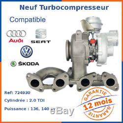 Turbo Turbocharger New For Volkswagen Golf V 2.0 Tdi 724930-4, 724930-6