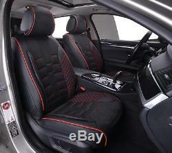 Universal Black Fabric & Leather Seat Covers Full Set Car Camper Van