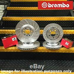 Vw Bora Golf Mk4 2.8 V6 Kinetix Before Groove Rear Brake Discs And Brembo