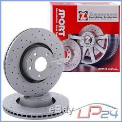Zimmermann Sport Brake Disc 2x Ventilated Front Ø345 Vw Golf 7 5g 1.2-2.0 12