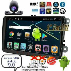 2DIN Autoradio Android 9.0 GPS Navi Bluetooth pour VW GOLF 5 PASSAT POLO Caddy