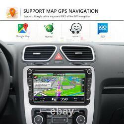 2 DIN 8 Autoradio Android GPS Navi Pour VW GOLF5 PASSÉ POLO TIGUAN SEAT SKODA