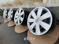 4x VW Golf 5 6 7 5K Caddy 2K Seat Leon 1P Skoda 16 Pouces Jantes 1K0601027AH