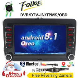 7Android 8.1 Autoradio GPS For VW Golf Passat CC Polo Tiguan Touran DAB+ OBD 2G