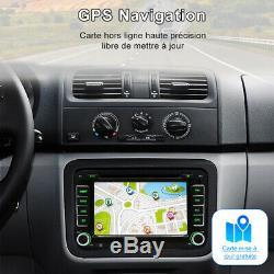 7 2 DIN Autoradio Navi GPS DVD USB DAB+ Für VW Golf Passat B6 EOS Seat Skoda