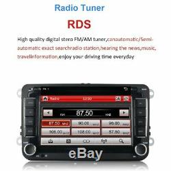 7 AUTORADIO 2DIN NAVI GPS DVD MP5 BLUETOOTH USB Für VW GOLF SEAT SKODA Kamera#