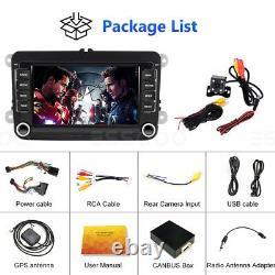 7 AUTORADIO Stéréo Android 9.1 Bluetooth RDS GPS +Caméra For VW GOLF 5 6 Passat