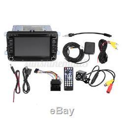 7'' Autoradio 2 DIN Stéréo Radio GPS bluetooth Caméra pour VW Golf Jetta Passat