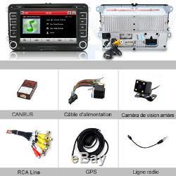 7 Autoradio CD DVD GPS BT Pour VW Radio Golf 5 Skoda Yeti Seat Altea XL Toledo