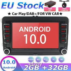 7 Autoradio For VW GOLF 5 6 PASSAT Touran Android 10 GPS NAVI Stereo DAB+WI-FI