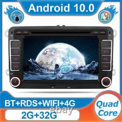 7'' Autoradio Stereo pour VW Golf 5 6 POLO T5 Seat Skoda EOS Jetta Android 10 4G