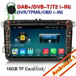 8DAB+Autoradio Android 8.1 DVD OPS für PASSAT GOLF5/6 TOURAN JETTA Tiguan Polo