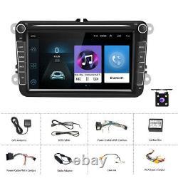 8 Autoradio Android pour Skoda Seat VW Passat Jetta Golf MK5/6 Caddy Touran+Cam